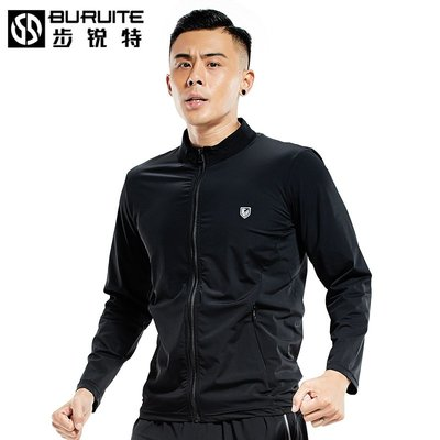 運動服 健身服 型男穿搭 運動外套男夾克休閑速干衣男長袖上衣寬松風衣跑步健身服