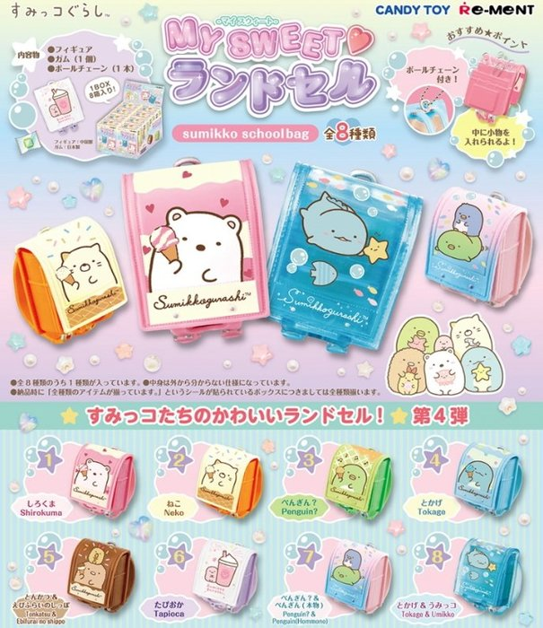 《FOS》日本 角落生物 盒玩 迷你書包 2020新款 角落小夥伴 日本書包 玩具 團購 必買 公仔 扭蛋 熱銷