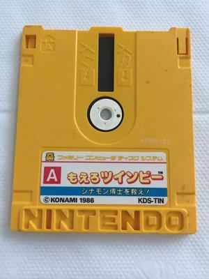 任天堂 磁碟機 正日本原版遊戲卡帶 ~  もえろツインビー    シナモン博士を救え!   遊戲卡帶
