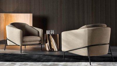 [米蘭諾家具]訂製款 複刻近原裝MINOTTI Fil Noir 單椅 訂做沙發 台灣嚴選工廠製造