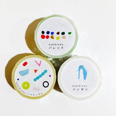 《散步生活雜貨-和紙膠帶》日本製 Subikiawa 繪本風格  20mm 單捲 紙膠帶-三款選擇