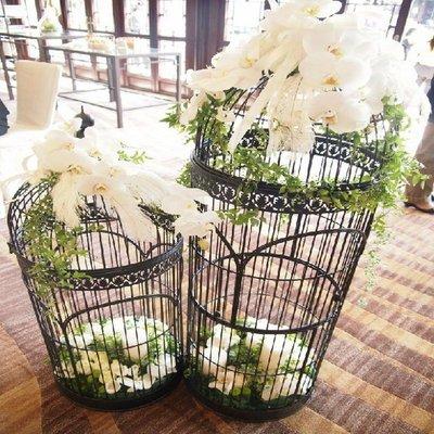【奇滿來】時尚婚禮裝飾鳥籠 大型30*30*100cm 空間擺飾藝術 展示鳥籠 服飾店 百貨公司裝飾佈置 ABET