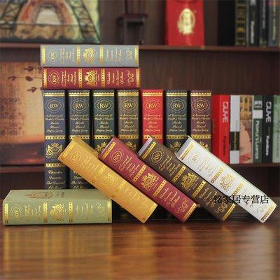 歐式復古仿真書假書擺件裝飾書模型書北歐裝飾道具書樣板書房擺設