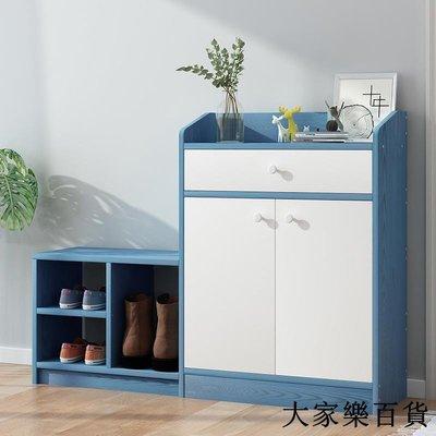 鞋柜家用門口大容量簡約現代收納簡易經濟型木質儲物柜仿實木鞋架
