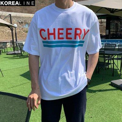 KOREALINE搖滾星球 / CHEERY螢光印刷短T / 3色 / MT6912