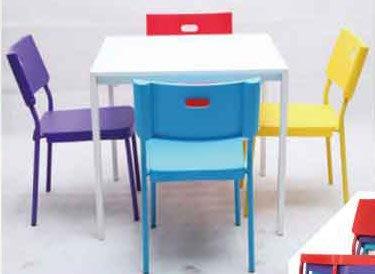 【南洋風休閒傢俱】餐椅系列-賓士椅 洽談椅 塑料餐椅 彩色休閒椅 有背餐椅 特價出清 量多優惠 (555-2)