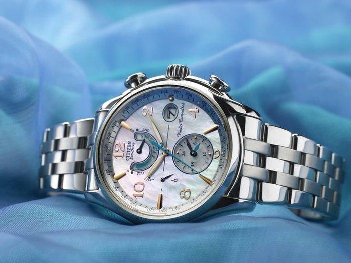 全新手錶CITIZEN星辰復古風格鋼帶版光動能5局電波時計萬年曆三眼鬧鈴多功能高防水表SEIKO精工ORIS卡西歐