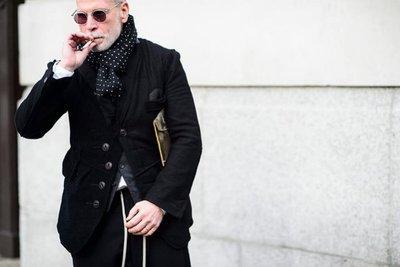 THE HILLSIDE 美國製造 紐約設計 日本布料 深藍底彩虹點點 水玉四季亞麻棉質圍巾 Nick Wooster