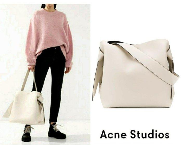 / 買家Y9163239323下標頁01 / Acne Studios ► ( 米白色 )musubi  大款 托特包 肩背包 手提包 |100%全新正品