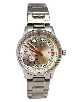 【卡漫迷】 六折出清 Snoopy 大錶面 手錶 ㊣版 男錶 對錶 情侶錶 史努比 日期 星期 史奴比 中性錶 不鏽鋼