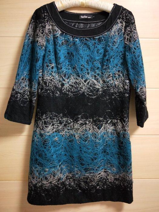 丹丹衣坊--歐款立體繡線洋裝