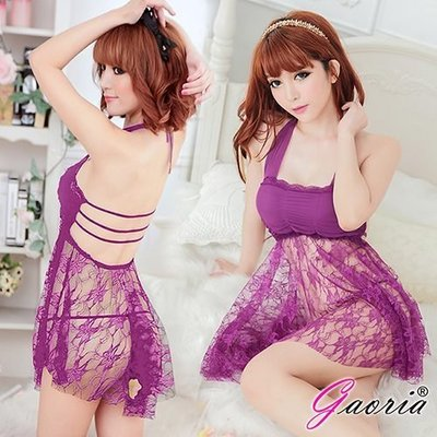 【Gaoria】療癒情人 裹胸式短裙 性感情趣睡衣 紫 N4-0032