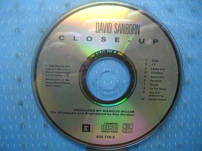 [無殼光碟]GQ  David Sanborn  Close-Up  MADE IN GERMANY