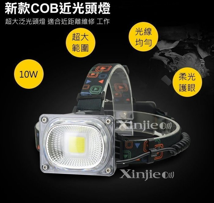 宇捷【B16】 新款10W COB LED強光頭燈 工作燈 維修燈 巡邏 汽修 露營燈Q5 T6 U2