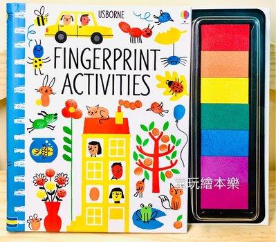 預售《童玩繪本樂》英國代購Usborne Fingerprint Activities 指印畫 手指畫 印台 書 大印台