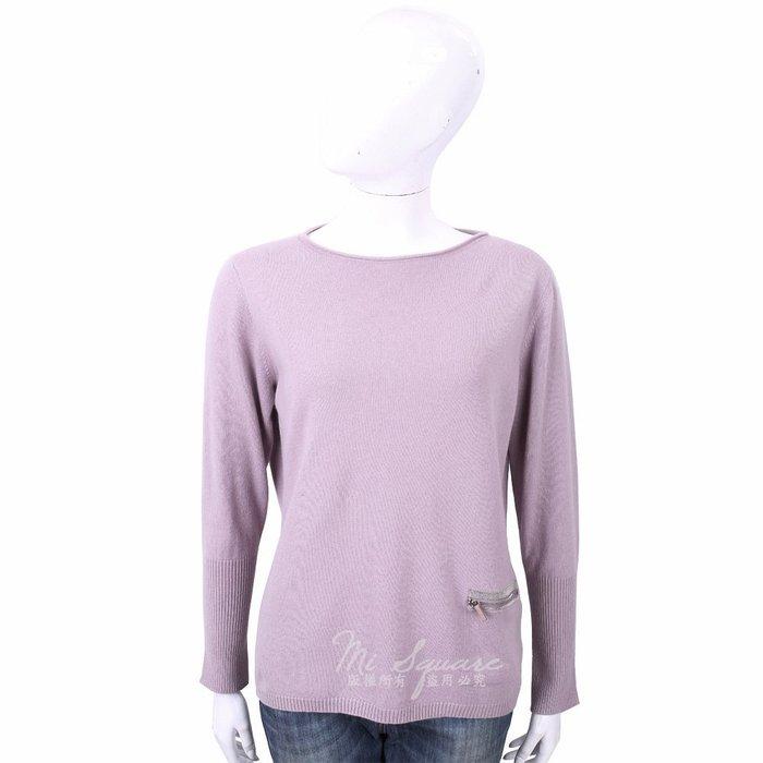 米蘭廣場 FABIANA FILIPPI 喀什米爾粉紫色捲邊細節針織羊毛衫 1810036-78 44號