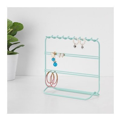 ~宜家 ~ DOSOR 鐵製耳環架 項鍊收納架 飾品架 展示架 藍色