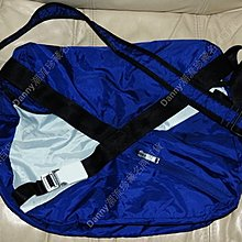 正版 Y-3 Y3 YOHJI YAMAMOTO 山本耀司 紫藍色 超輕便 薄身斜咩袋 Messenger Bag (可摺成袋仔)