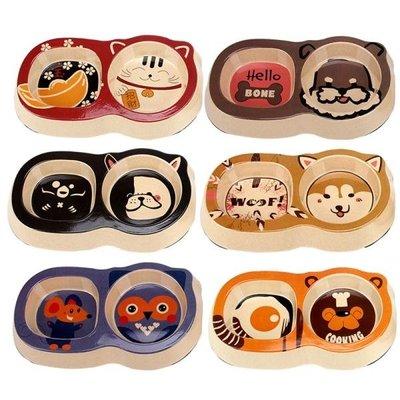 寵物貓碗狗碗狗盆狗狗食盆貓糧飯盆泰迪小狗飯碗貓咪可愛雙碗用品