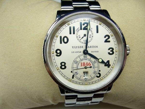 [吉宏精品交流中心]ULYSSE NARDIN 雅典 不鏽鋼 自動機械 男錶