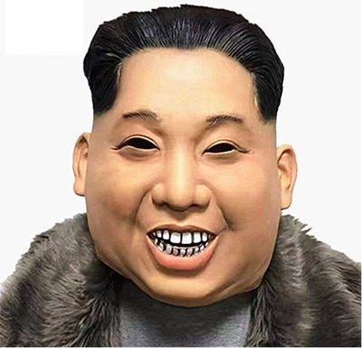 @三人一狗@ 金正恩頭套 金正恩面具 超擬真 北韓 金小胖 交換禮物 派對 舞會 乳膠頭套 搞笑面具 名人面具 北韓總統