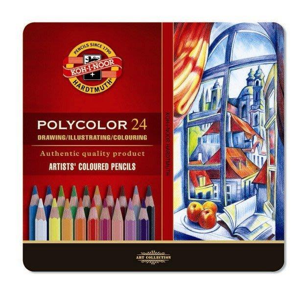 【Artshop美術用品】捷克 KOH-I-NOOR 藝術家油性色鉛筆 (24色) 鐵盒