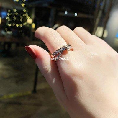 cub正韓飾品裝飾戒指女玫瑰金日韓個性打結款夸張學生食指指環潮人開口戒子