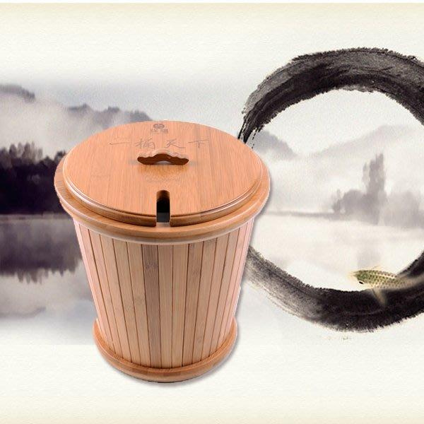 5Cgo【茗道】含稅會員有優惠  17019084264 精致竹制茶桶防易爆裂漏水茶水桶茶渣桶排水桶裝水桶功夫茶具茶盤