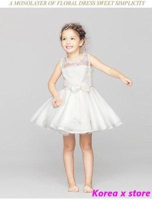 【K x S】兒童裙夏季公主裙女童連衣裙蓬蓬裙花童禮服寶寶白色婚紗裙子春季