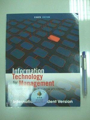 6980銤:A18-5cd☆2012年出版『Information Technology Management 8/e』