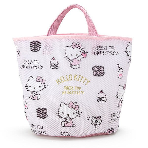 日本三麗鷗 HELLO KITTY / 大耳狗 洗衣網提袋