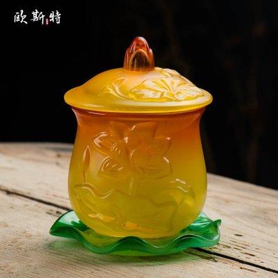 hello小店-佛前供水杯 家用琉璃蓮花圣水杯供佛杯觀音凈水杯 大小號#供水杯#果盤#