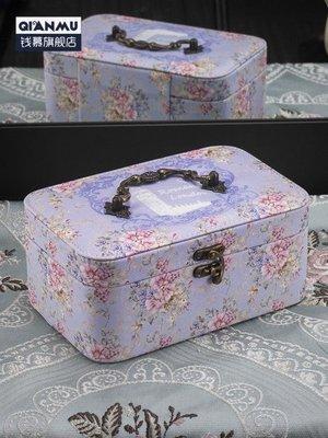 女公主簡約歐式手飾品首飾收納盒韓國大容量項錬耳釘整理盒