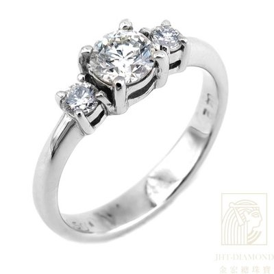 【JHT 金宏總珠寶/GIA鑽石專賣】0.420ct天然鑽石戒指/材質:18K(2552)