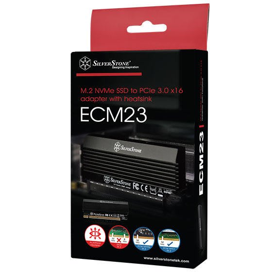 光華CUMA散熱精品*銀欣 SilverStone ECM23 M.2 SSD TO PCIe x4~現貨
