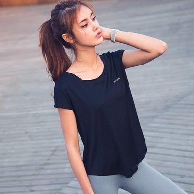 🎈全場滿3件免運👍夏季寬鬆短袖T恤女 運動罩衫 健身T恤 跑步上衣 顯瘦瑜伽服 慢跑訓練上衣 透氣速乾 戶外運動