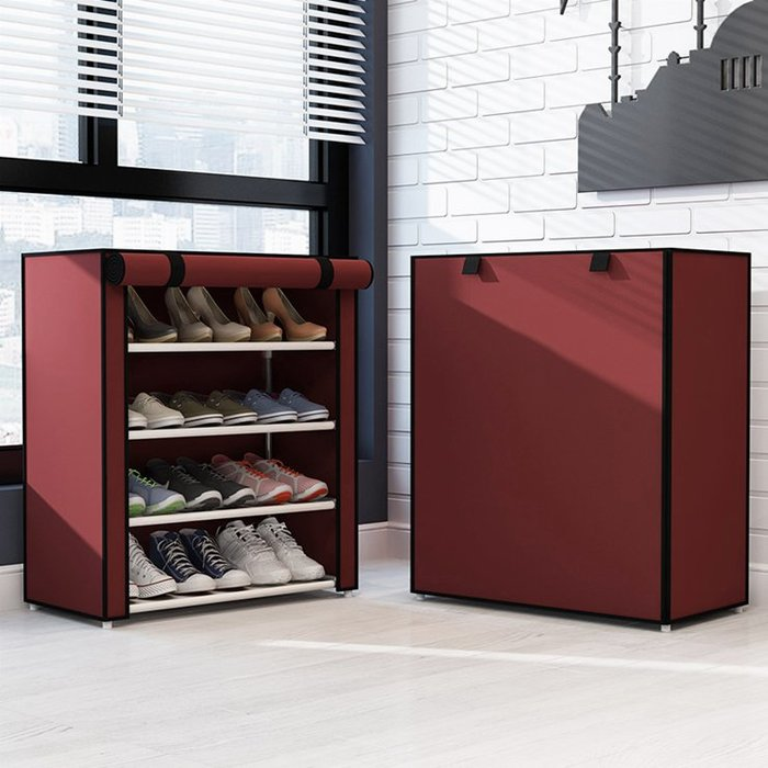 宿舍寢室迷你矮小鞋架三層簡易家用單人租房防塵收納布鞋櫃igo