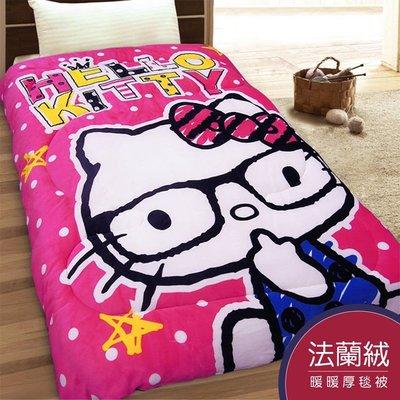 Hello Kitty法萊絨舒柔被.超...