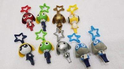 玩具魂 老玩具大集合 2007年麥當勞發行 Keroro Gunso 等 彩色軍曹公仔 有限量的金銀色 共9隻