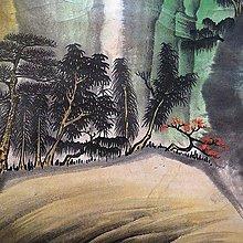 【 金王記拍寶網 】S1612  張大千款 潑彩 山水圖 手繪書畫捲軸一幅 罕見 稀少~