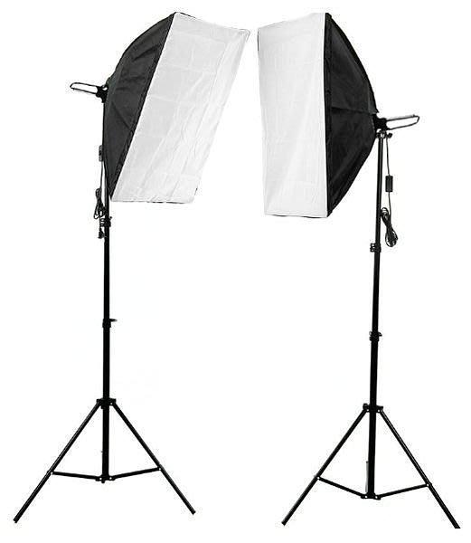 番屋【保固】50*70柔光箱單聯燈套裝 單燈頭 燈箱 燈架 攝影燈套裝 攝影器材 拍攝套組 攝影四燈頭參考 送背景布