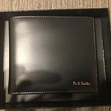 Paul Smith Men's Black Leather Signature Stripe Interior Billfold Wallet