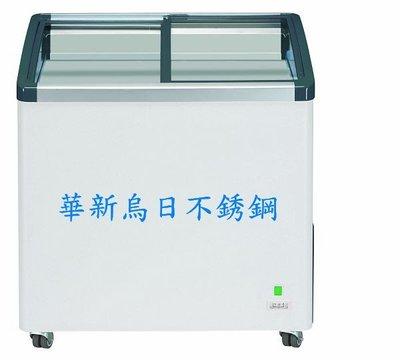 全新 德國利勃LIEBHERR 2尺8 弧型玻璃推拉冷凍櫃199L(EFI-2053)附LED燈 公司貨