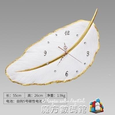 哆啦本鋪 北歐客廳靜音裝飾時鐘個性創意簡約現代家用輕奢臥室鐘錶 D655