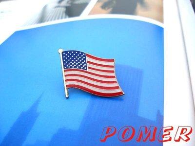 ☆POMER☆ United States of America USA 美國國旗 金屬別針胸針徽章