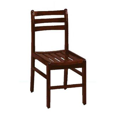 【在地人傢俱】19 簡單購-胡桃色三橫椅/讀書椅/休閒椅/學生椅/餐椅 LC872-19