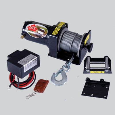1 TIG DC12V,2000LBS 直流吊車/絞盤/捲揚機/遙控/鋼索/雪鍊/車用拖車/電動絞盤/