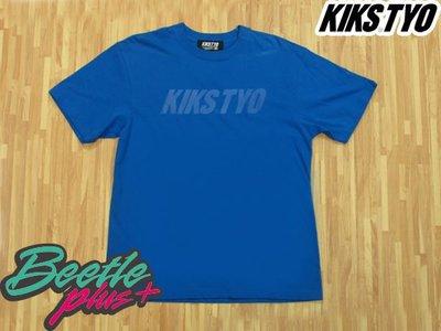 BEETLE PLUS 西門町專賣店 KIKS TYO LOGO TEE 基本款 藍 配色 藍底深藍字 短T M L