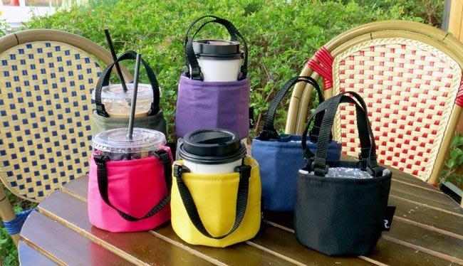 乾媽店。日本 ROOTOTE 手搖飲 咖啡杯 保冷保溫 可收納 時尚環保小提袋 環保飲料提袋