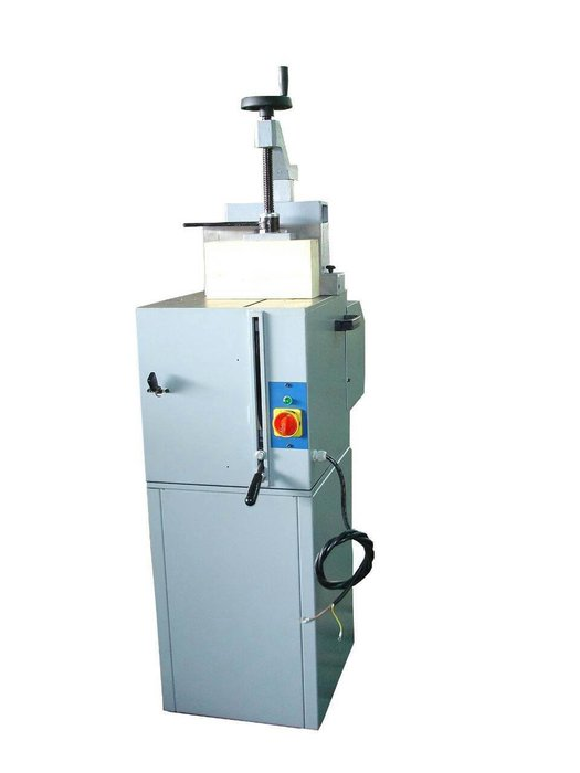 鋁材切割機立式鋁擠型金工400MM角度圓鋸機鋁門窗門框相框燈箱壓克力角度切斷機刀片由下往上升起操作安全材料不亂噴富上機械